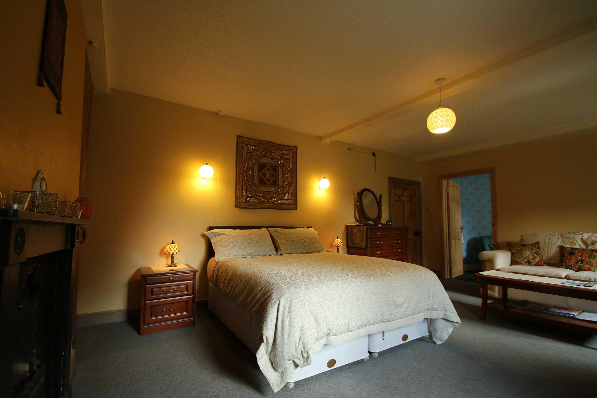 Parvati Twin or Double room at Over the Rainbow